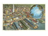 Aerial View of Seattle, Washington Posters