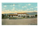 Train Station, Santa Barbara, California Poster