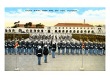 Parade, Marine Base, San Diego, California Prints