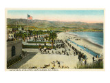 Beach at Santa Barbara, California Prints