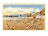 Strand am Cliff House, San Francisco, Kalifornien Kunstdruck