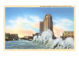 Great Seawall, Galveston, Texas Print
