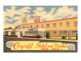 Cardiff Hotel and Motel, Vintage Motel Print