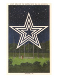 Lighted Star, Mill Mountain, Roanoke, Virginia Print