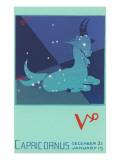 Capricorn, the Goat Prints