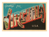 Greetings from Virginia, USA Prints