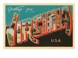 Greetings from Virginia, USA Prints