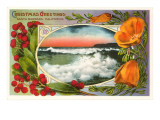 Christmas Greetings, Surf, Santa Barbara, California Print