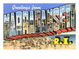 Greetings from Narragansett, Rhode Island Print