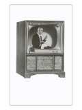 Television Set with Conductor Print