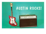 Austin Rocks Electric Guitar and Amp Art