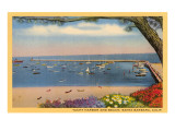 Yacht Harbor and Beach, Santa Barbara, California Posters