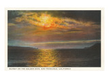 Sunset on the Golden Gate, San Francisco, California Print