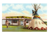 Roadside Tepee and Trading Post Prints