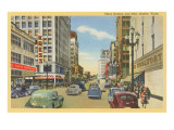 Third Avenue and Pike, Seattle, Washington Poster