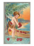 Fishing Cupid, My Valentine Posters