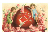 To My Valentine, Cupids and Heart Prints