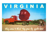 Giant Apple on Truck Bed from Virginia Poster