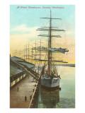 Tall Ships at Wheat Warehouse, Tacoma, Washington Kunstdrucke