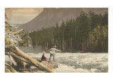 Fly Fishing, Skykomish, Washington Prints