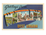 Greetings from Wheeling, West Virginia Print