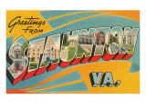 Greetings from Staunton, Virginia Posters