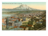 Mt. Tacoma and Downtown Tacoma, Washington Posters