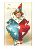Your Valentine, Clown with Dunce Cap Prints