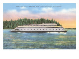 Streamlined Ferry, Seattle, Washington Posters