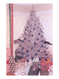 Fake Silver Christmas Tree Posters