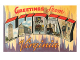 Greetings from Luray, Virginia Posters
