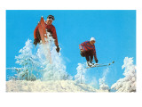 Skiing Moguls Art