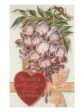 Vintage Wisteria Valentine Art