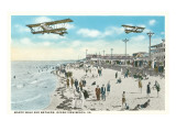 Boardwalk, Biplanes, Ocean View Beach, Virginia Art