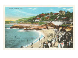 Beach at La Jolla Cove, San Diego, California Print