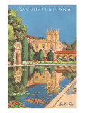 Lily Pond in Balboa Park, San Diego, California Poster