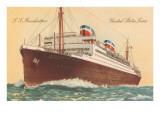 United States Line Ocean Liner SS Manhattan Prints