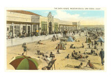 Bath House, Mission Beach, San Diego, California Prints