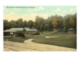 The Park at Lake Bomoseen, Vermont Poster