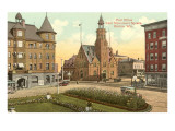 Post Office, Monument Square, Racine, Wisconsin Prints