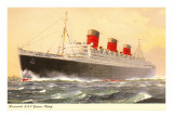 Cunard Queen Mary, Ocean Liner Prints
