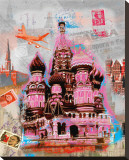 Moscow Vintage Stretched Canvas Print by Robin Jules