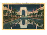 San Francisco World&#39;s Court of Reflections Print