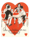 Twenties Bridge Game, Valentine Poster