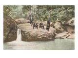 Men on Rock, New River, Fayette, West Virginia Prints