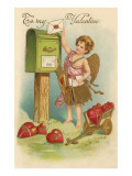 To My Valentine, Cupid Mailing Letter Prints