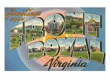 Greetings from Front Royal, Virginia Poster