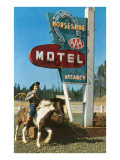 Horseshoe Vintage Motel, Boy on Pony Posters