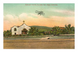 Episcopal Church, Biplane, La Jolla, California Poster