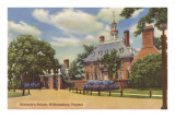 Herrenhaus des Gouverneurs, Williamsburg, Virginia Poster